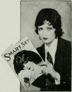 Clara Bow reading Smart Set Magazine