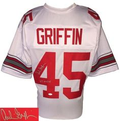 Archie Griffin Signed Custom White College Football Jersey HT 1974 75 JSA  Football Jerseys 5026d5c39