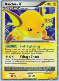 pokemon cards | Pokemon Card of the Day - Raichu LV.X Stormfront SF 99