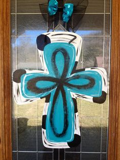 Hey, I found this really awesome Etsy listing at https://www.etsy.com/listing/180862758/wooden-cross-door-hanger-hand-painted