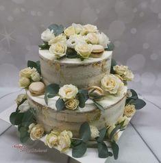 Hochzeitstorte weiß creme gold Creme, Jar, Desserts, Gold, Wedding, Wedding Cake, Pies, Tailgate Desserts, Valentines Day Weddings
