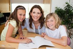 Picture of Mother helping her children with their homework stock photo, images and stock photography. Mother Pictures, Special Educational Needs, Still Standing, Home Schooling, Childcare, My Children, Homework, Your Child, Homeschool