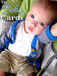 Make a baby cardigan from a onsie. Soooo cute!