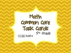 Math Common Core Task Cards 5th Grade CCSS 5.NF.4 Multiplying Fractions - Jennifer Findley - TeachersPayTeachers.com Multiplying Fractions, Teaching Fractions, Teaching Math, Dividing Fractions, Teaching Ideas, Teaching 5th Grade, 5th Grade Math, Common Core Curriculum, Common Core Math