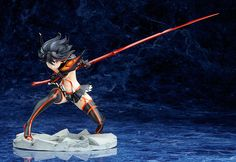 If you haven't yet seen the hit new anime Kill la Kill by Studio Trigger, you are missing out on an action-packed, humorous story revolving around Ryuko Matoi. Who is she? She's a powerful, smart, courageous girl who believes in her strength and never backs down from a battle. This is the must-have debut figure of her! Wearing her Kamui Senketsu, she is posed ready to strike with her Scissor Blade...