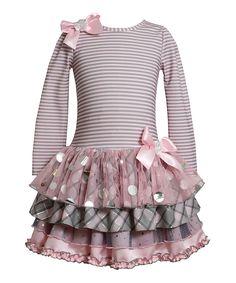 Look what I found on #zulily! Pink Drop Waist Tiered Dress - Girls by Gerson & Gerson #zulilyfinds