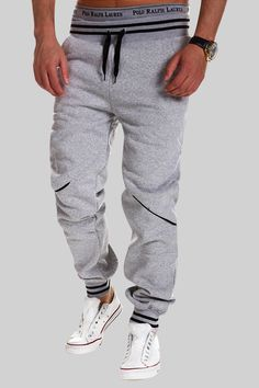 Plus Size Fashion Mens Joggers Pants 2018 New Elastic Waist Cotton Sweatpants Male Casual Loose Long Trousers Pantalon Homme Tactical Cargo Pants, Mens Jogger Pants, Cargo Pants Men, Sweatpants Style, Cotton Sweatpants, Mens Sweatpants, Harem Sweatpants, Sweat Pants, Woman Fashion