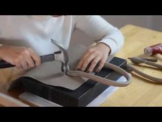 The making of Michelle bag by Maria Fano / Leather Bag - YouTube