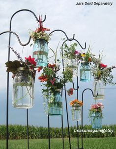 Mason Jar Wedding Aisle DIY Hanging Flower Vase Lids sold by treasureagain http://etsy.me/159EsT7