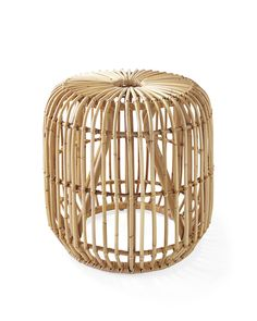 Lovely Rattan Furniture for Your Home. Rattan-based furniture is widely used in Asia, because rattan raw materials can easily be found there. Rattan furniture can give an antique or mode. Rattan Side Table, Wooden Side Table, Side Tables, Rattan Furniture, Living Furniture, Furniture Design, Rattan Ottoman, Rattan Stool, Cane Furniture