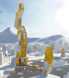 A Cape Town on propose un gratte-ciel encore plus fou, sa forme originale ne ressemble à aucune autre ! Conçu par des architectes de l'agence Mareka Design, cette tout serait comme un Phare veillant sur la côte, un colosse de Rhodes gardant l'entrée du port sud-africain.     Source : https://www.orgone-design.com/blog/un-gratte-ciel-au-cap-par-makeka-design/