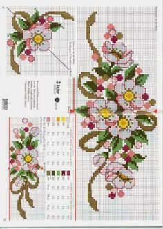 This Pin was discovered by Şen Just Cross Stitch, Simple Cross Stitch, Cross Stitch Borders, Cross Stitch Flowers, Cross Stitch Designs, Cross Stitching, Cross Stitch Embroidery, Embroidery Patterns, Cross Stitch Patterns