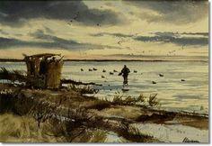 Ogden Pleissner - Andrews Neck Blind Eastern Shore Maryland - Original ...