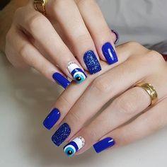 Summer Acrylic Nails, Cute Acrylic Nails, Acrylic Nail Designs, Nail Swag, Evil Eye Nails, Uñas Fashion, Manicure E Pedicure, Fire Nails, Stylish Nails