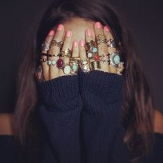 Nails and finger bling <3