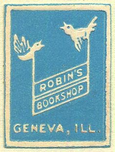 "Robin's Bookshop (via the ""book trade labels"" posts of Eric Kass - which I am loving)"