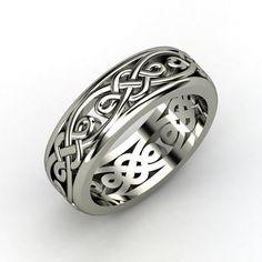 Men's Sterling Silver Ring | Alhambra Band | Gemvara