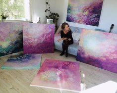 Emma Lindström - Cosmic Compositions 26-year-old painter Emma Lindström creates colorful swirls of awesomeness using a combination of acrylic and spraypaint. Though the artist is from Sweden, her work feels as though it came from an entirely different galaxy. Her paintings are nothing short of celestial — though the colors change piece to piece, she maintains the same galactic visuals that transcends our Earthly imaginations. When it all comes down to it, my main goal is obviously to…