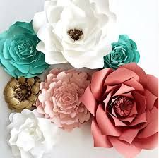 """Képtalálat a következőre: """"turquoise paper flower"""""""
