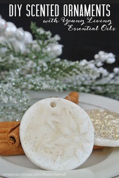 These DIY Scented Ornaments would be so fun to make with the kids are gifts or gift tags! LOVE!