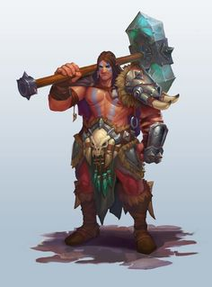 ArtStation - a man with a huge hammer, Yakovlev Kirill