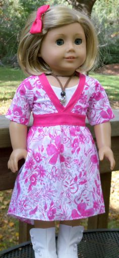 American Girl Doll Clothes Trendy Pink by buttonandbowboutique, $22.00