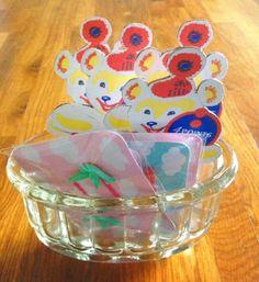 50's〜60'sイギリスのガラスのゼリーモールドを入れ物として使うのもいいかも✨
