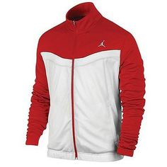 Jordan Prime. Fly Jacket Mens White / Gym Red 547631-695 Coats & Jackets