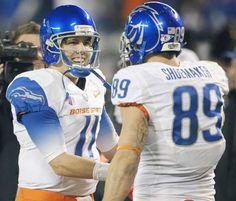 Quarterback Kellen Moore (Lions) and wide receiver Tyler Shoemaker (Bucs) were two of five former Boise State players who agreed to free-agent deals Saturday. DARIN OSWALD — Idaho Statesman