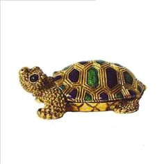 Baby Turtle Tortoise Box Swarovski Crystals 24K Gold , Trinket or Pill Box Dazzlers. Save 50 Off!. $29.95. Certificate of Authenticity included. Limited edition item which is sure to grow in value over time.. Stocked on site! Quick Delivery! (See this item's detailed specifications below.). This little turtle will melt your heart!  His big black eyes look up hopefully and beautiful hues of green and indigo adorn his shell.. Arrives in a padded, satin lined Presentation Box. 100% Satisf...
