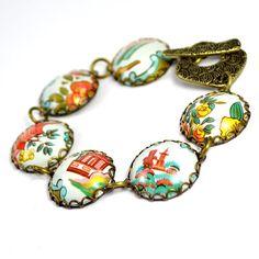Vintage Tin Recycled Jewelry Bracelet by wearwolf