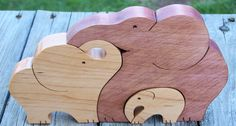 Animal puzzle Maple wood scroll saw cut 3 by BasketsByDebi on Etsy,