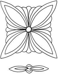 Fancy Pinwheel stencil for double wedding ring quilt Quilting Stencils, Quilting Templates, Longarm Quilting, Free Motion Quilting, Quilting Tutorials, Quilting Projects, Quilting Ideas, Machine Quilting Patterns, Quilt Patterns Free