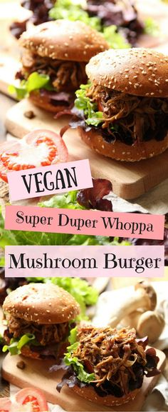 If you haven't already tried this vegan super duper whoppa mushroom burger then it's about time you did! Packed with layers of flavor, this burger is made up of shredded oyster mushrooms fried with various spices, herbs and more. It's easy to prepare, hassle-free and perfect for lunch or any busy day. #veganrecipe #plantbased #meatlessmonday #vegetarianburger