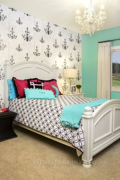 Are your children growing out of their old bedroom furniture and colors?  Call Decorating Den Interiors by Julie Ann to set up your FREE consultation 651-504-2080. #Design #teenroom #home #decorating #decor