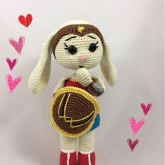 Excited to share this item from my shop: AMIGURUMI pdf pattern - Wonder Bunny Cute Pattern, Pattern Design, New Dolls, Slip Stitch, Single Crochet, Crochet Toys, Crochet Patterns, Pdf, Etsy Shop