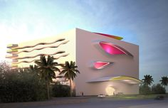 OPTION A - facade for resort in Caribbean 2016 by Karim Rashid