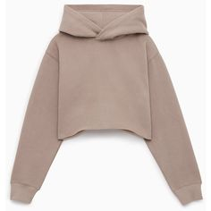 perfect hoodie crop Aritzia ($65) ❤ liked on Polyvore featuring tops, hoodies, cropped hoodies, hooded pullover, cropped hoodie, brown hoodie and hooded sweatshirt