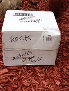 My dad wasn't pleased that my mom wanted to move her rock across the country.