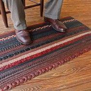 Leather Belt Rug weave3