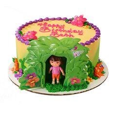 Make a unique Dora cake with the Dora the Explorer Jungle DecoSet®