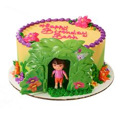 Make a unique Dora cake with the Dora the Explorer Jungle DecoSet®