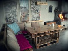 Pallets dining corner     #Sofa, #Table
