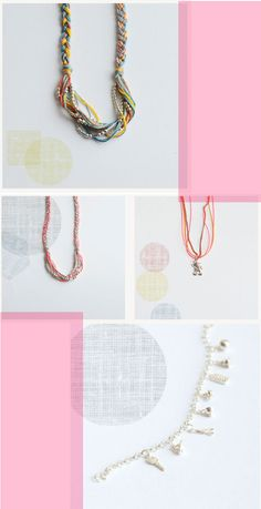 Poppytalk: New Jewelry Collection - Bloesem Wears  I really like the braided one at the top.