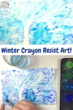Use a simple crayon resist art technique for this beautiful winter art project for kids! Use everyday material you already have at home for this craft. Kids of all ages - toddlers, preschoolers, and big kids can make this stunning winter craft. Winter Activities For Toddlers, Preschool Art Activities, Preschool Arts And Crafts, Creative Activities For Kids, Animal Crafts For Kids, Winter Crafts For Kids, Winter Kids, Kid Crafts, Winter Art Projects