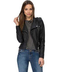 Black PU Wool Buckle Coat - Womens Coats Jackets - Australia ...