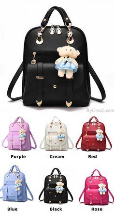 New College Women Bag British Bear Multifunction Handbag Backpacks for big sale! #backpack #school #college #bear #cartoon #bag