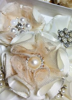 diy bridal bouquet fabric flowers