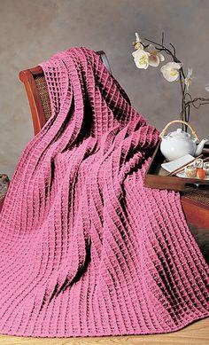 Super Easy And Very Meditative Shadow Box Crochet Throw