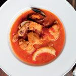 Cacciuco - fish soup that's typical of Livorno in North-west Italy from Fish: Recipes from the Sea